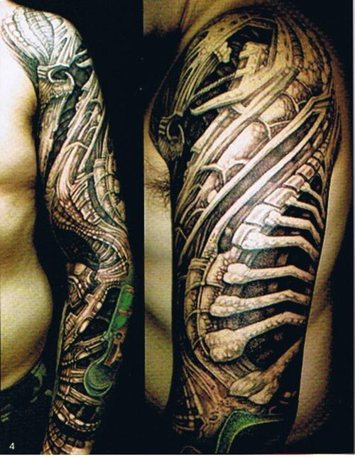 biomechanical giger tattoo - photo #24