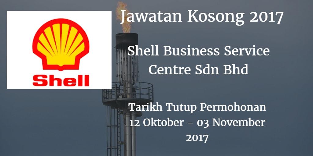 Jawatan Kosong Shell Business Service Centre Sdn Bhd 12 Oktober - 03 November 2017