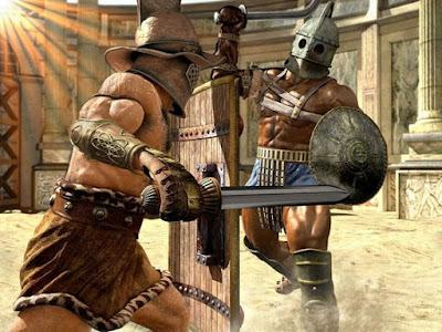 pertempuran antar gladiator