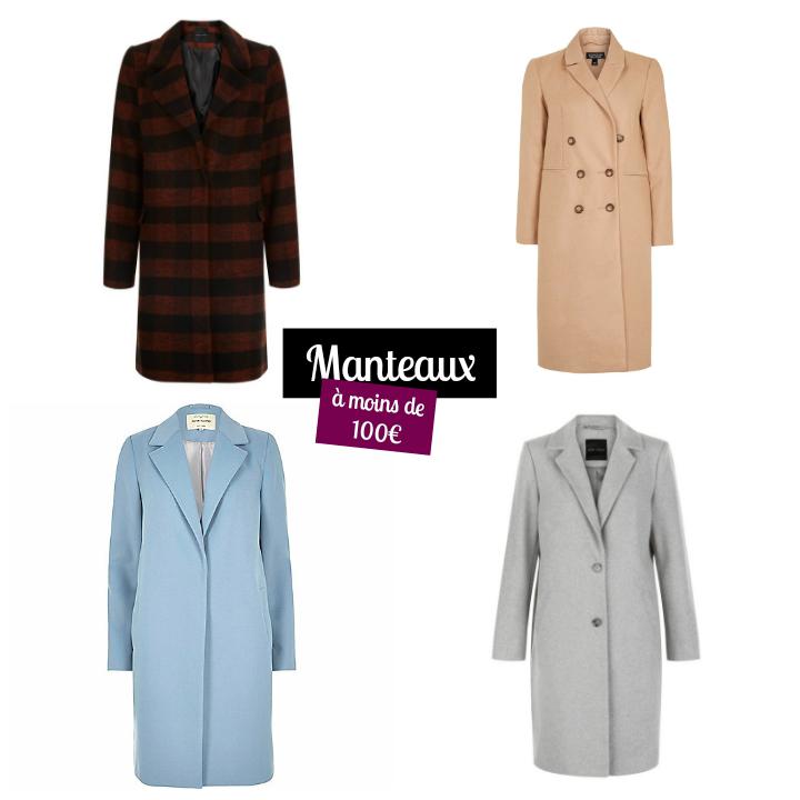 Sélection shopping de manteaux à moins de 100€