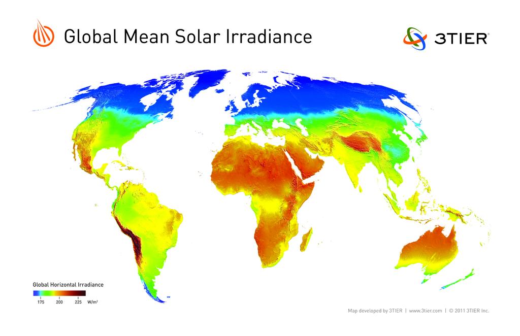 Global mean solar irradiance