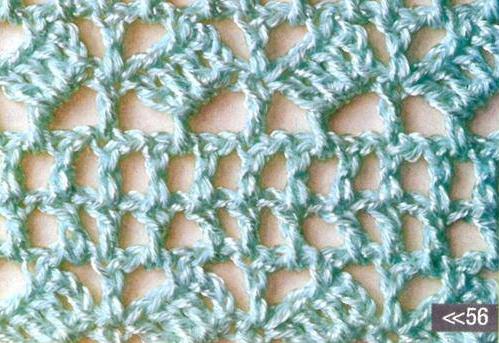Patrón #1766: Punto Calado a Crochet
