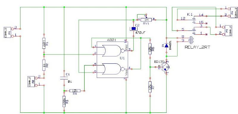cd4001 based on car alarm circuit