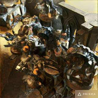 40k Genestealers swarm Long Fangs in ruins - Prisma