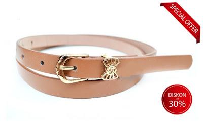 ikat pinggang sabuk kulit wanita import original leather fashion belt aksesoris lucu impor murah