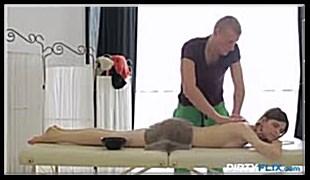 마사지 야동- Skinny Teen Assfucked On The Massage Table
