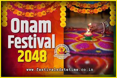 2048 Onam Festival Date and Time, 2048 Thiruvonam, 2048 Onam Festival Calendar