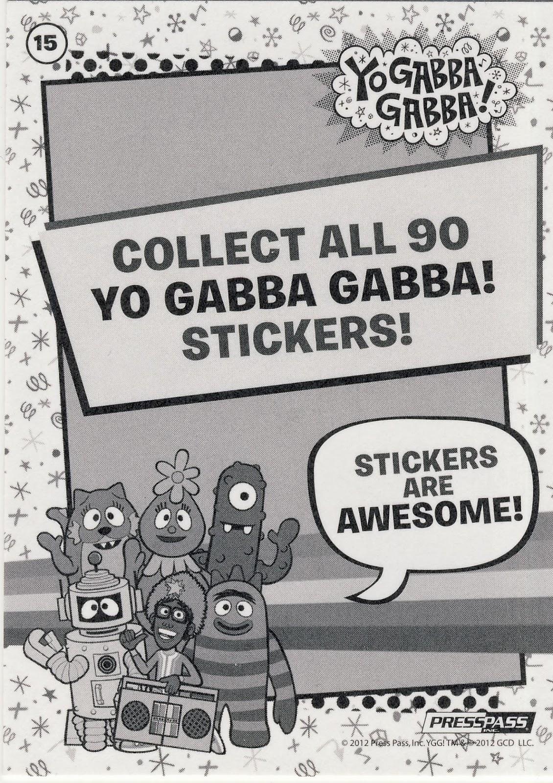 90 Card Set YGG 2012 Press Pass Yo Gabba Gabba