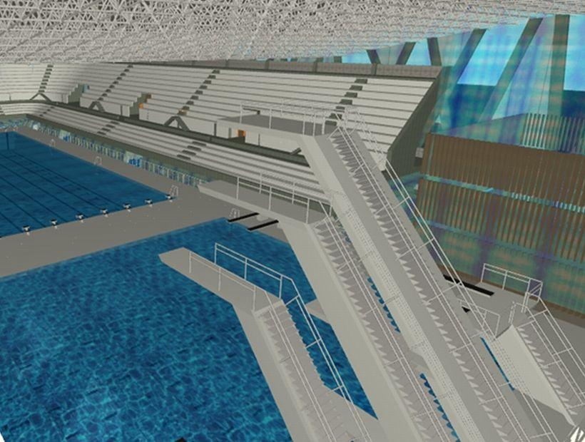 Arte y arquitectura art and architecture arquitectura for Diseno grafico de piscina olimpica