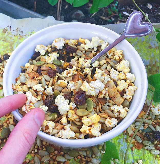 Secretly Healthy Sweet N' Salty Trail Mix (Gluten Free, Vegan)