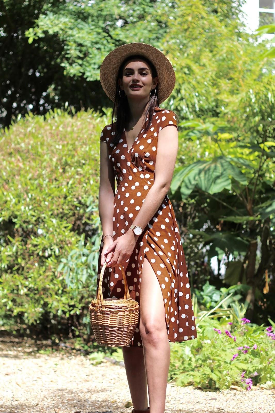 peexo fashion blog summer style polka dots