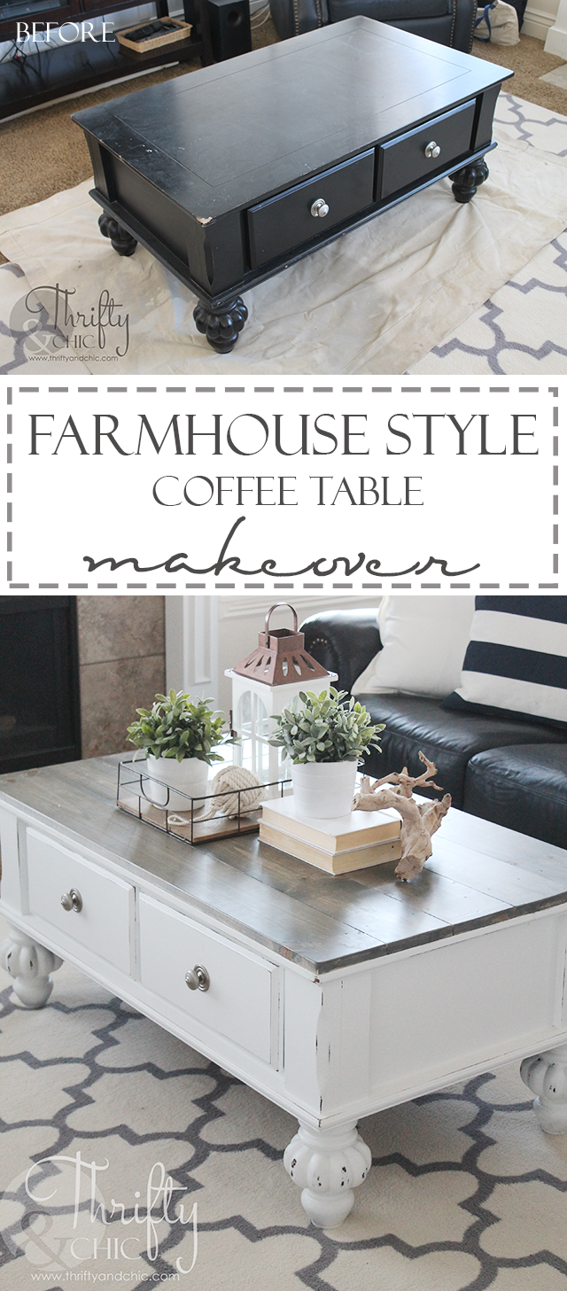 Turn an outdated table into a cute farmhouse style table!