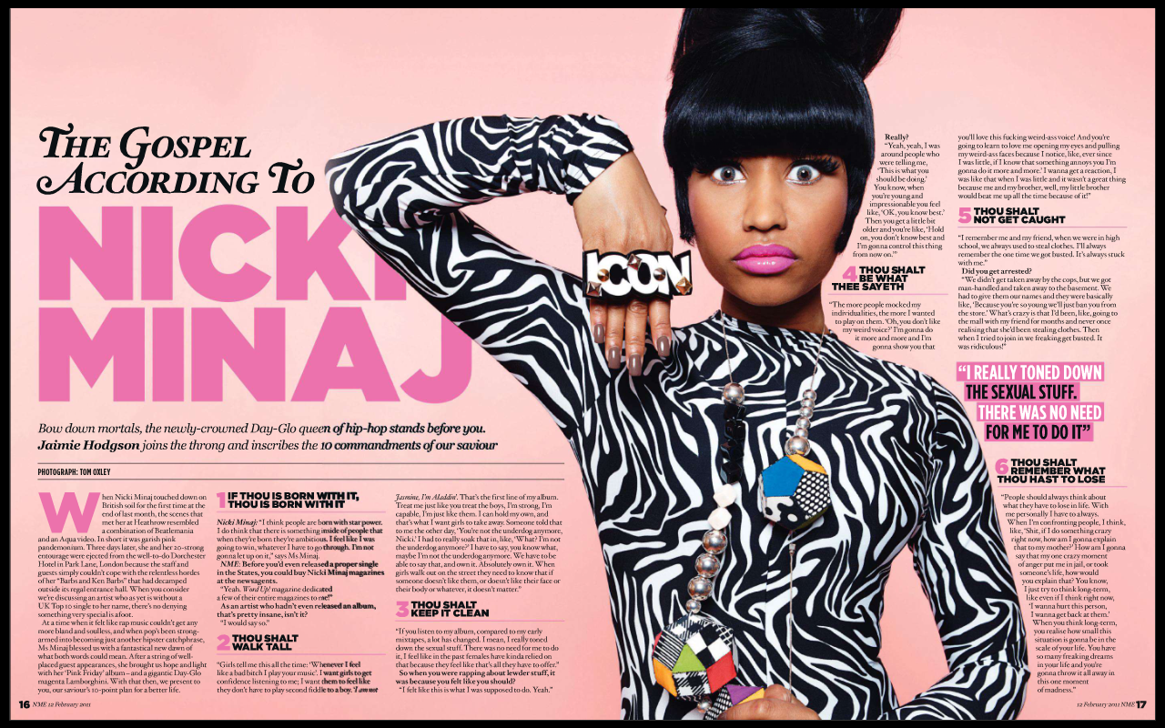 1: Nicki Minaj Lands No  1 Spot on Billboard Charts