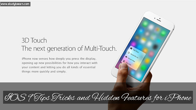 iOS 9 Tips,Tricks and Hidden Features for iPhone