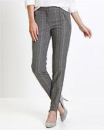 Spodnie w kratę BonPrix