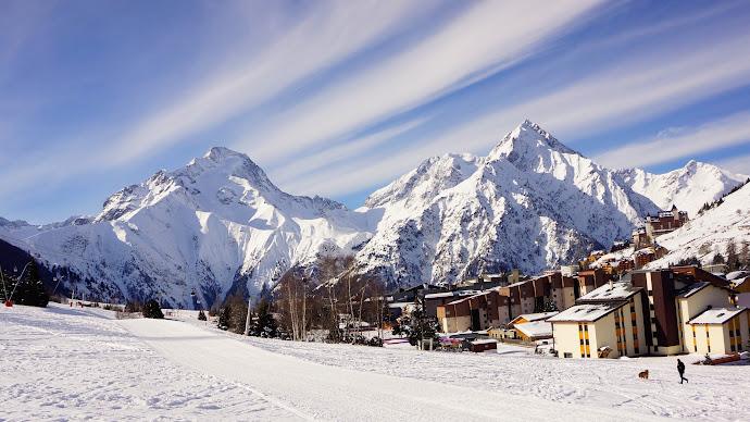 Wallpaper: Snow, Winter, Mountain, Landscape, City