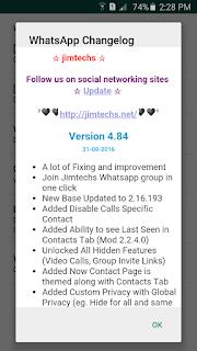 WhatsApp Plus JiMODs Mod Android APK Screenshots 2