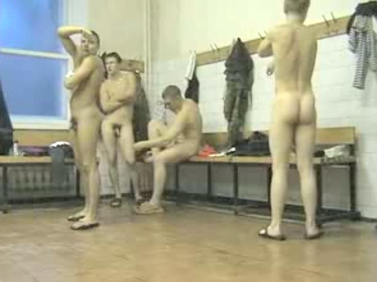 military boys showering