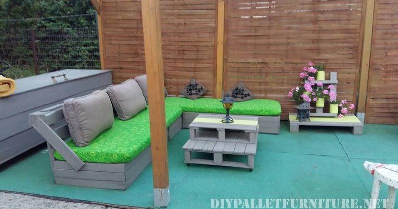 Muebles para el patio con palets - Muebles de patio ...