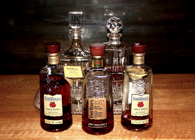 Tasting Three Four Roses Single Barrels, NASA Liquors and Elliot's Select Limited Release