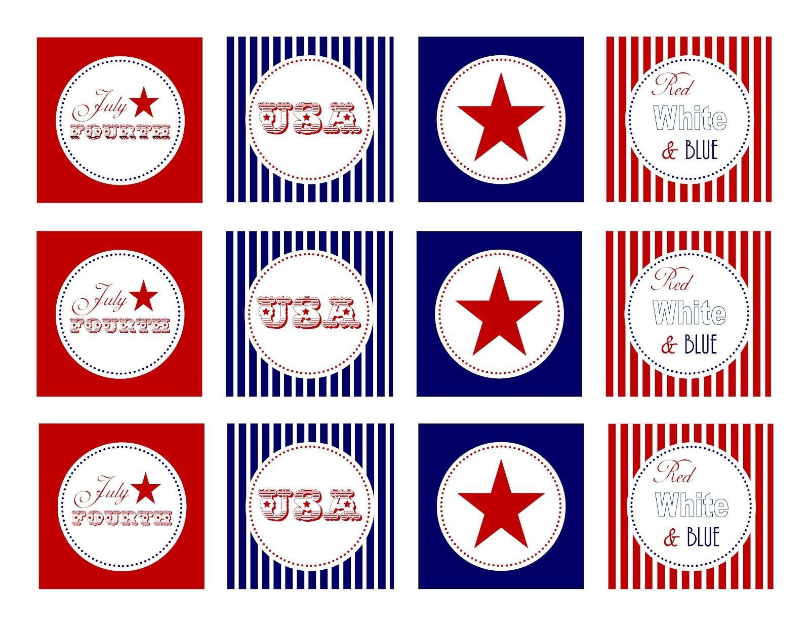 Simply Creative Insanity Printables Free For The Fourth Of July