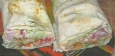 Состав продуктов и способ приготовления домашней шаурмы