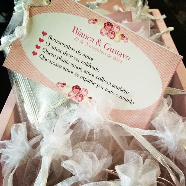 Lembranças : Sementes de Amor Perfeito - Mini Wedding / Casamento