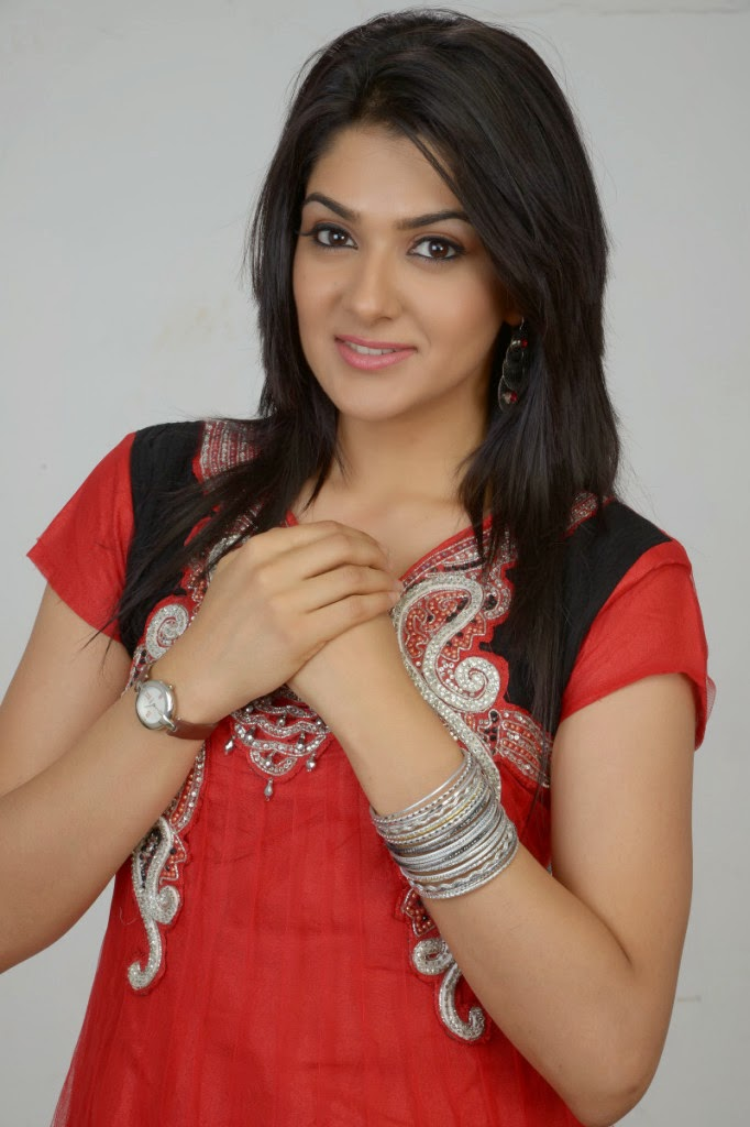 shy and sexy Sakshi choudhary photo gallery in hot red salwar kameez