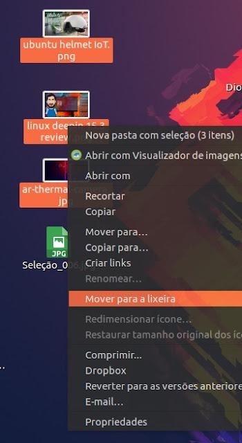 Ubuntu menus de contexto transparente