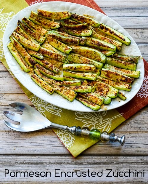 Parmesan Encrusted Zucchini Recipe found on KalynsKitchen.com