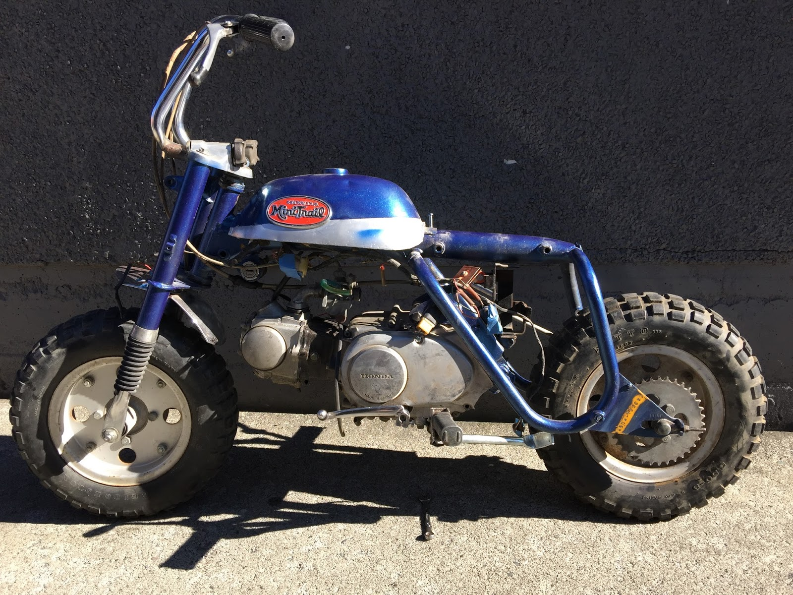 Z50 A Mini Trail Restoration Project Honda Z50r Wiring Diagram Next Steps The Fuel Tank Comes Off Handle Bars Electrical Wire Harness Rims And Tires Come All Cables Brakes Throttle Battery Rack Holder