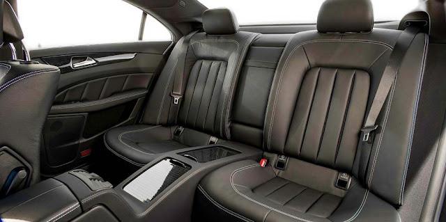 Băng sau Mercedes CLS 400 2018 thiết kế rộng rãi và thoải mái.