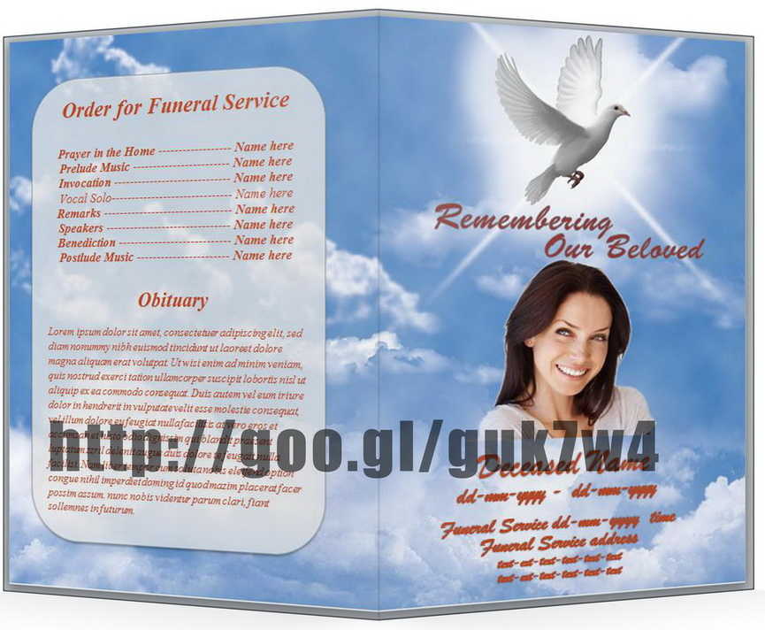 Memorial Service Templates Free program template funeral order of – Free Memorial Program Template