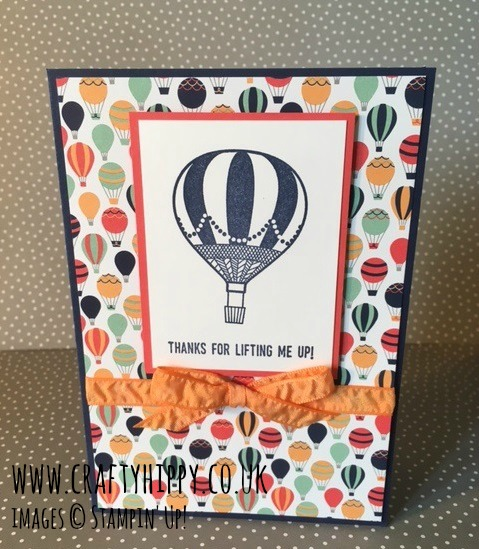 Peekaboo Peach Ruched Ribbon, Carried Away DSP, Stampin' Up!