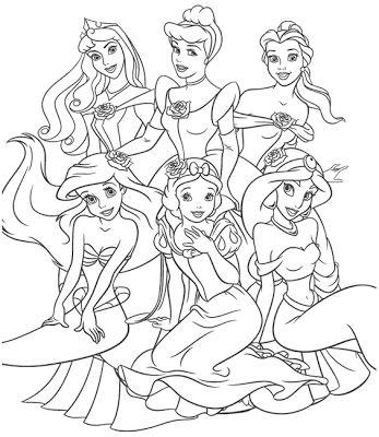Tranh tô màu công chúa 17