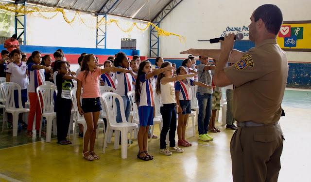 PROERD realiza formatura no município de Sairé