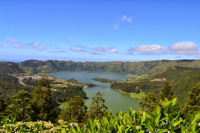 Blue and Green Twin Lakes - Sete Cidades- Sao Miguel Azores