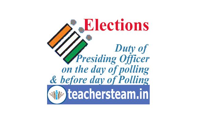 presiding officers duty