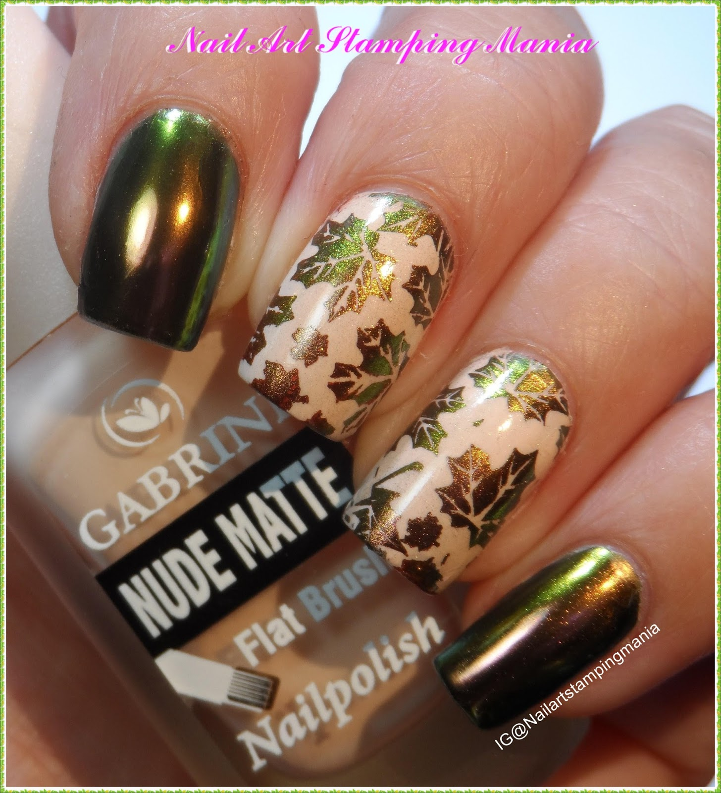 Nail Art Stamping Mania How To Stamp With Chrome Or Multichrome
