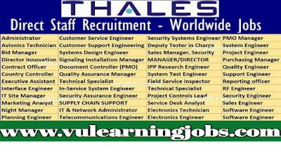 Thales Group Jobs | Thales Group Jobs Opportunities