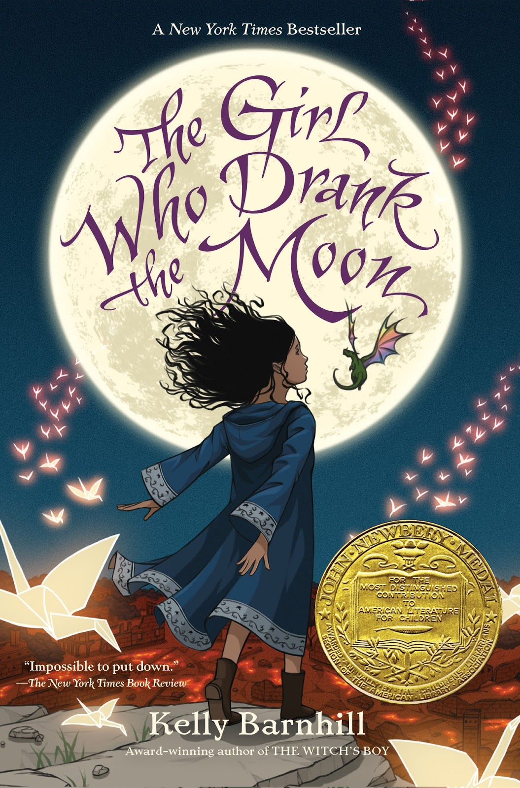 The Girl Who Drank the Moon by Kelly Barnhill, 400 pp, RL 4