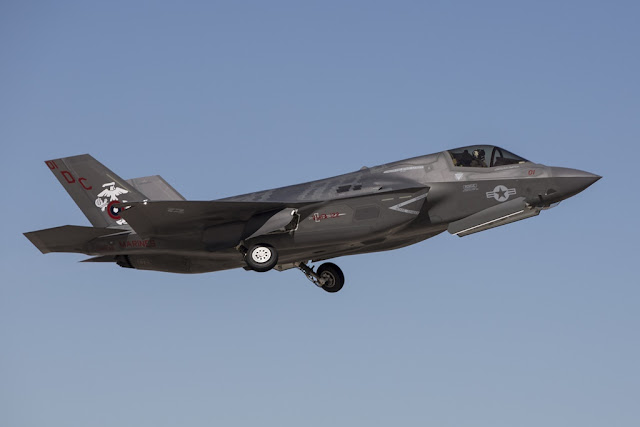 Marine VMFA-122 first flight F-35B