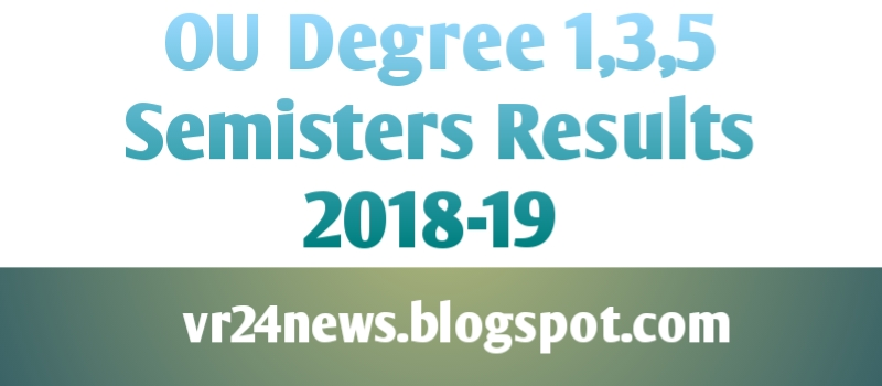 PU Degree 5 Sem Results 2018-19 OU 1st, 3rd, 5th Sem Result BA, B