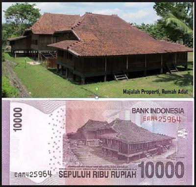 Rumah Adat di Uang 10000, rumah adat Limas, Sumatera Selatan