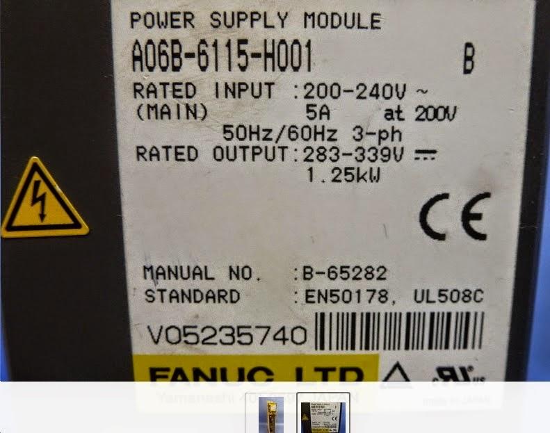 Chuyên sửa bộ nguồn tạo DC link của máy CNC FANUC (Fanuc PSM Power