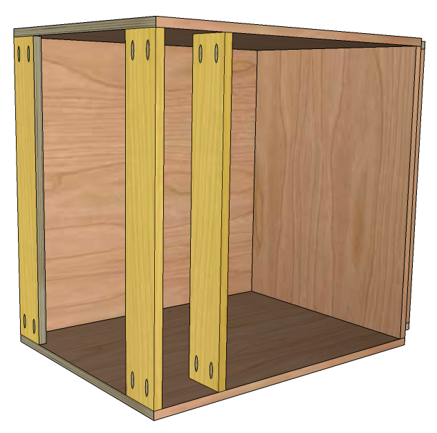 In This Example Weu0027re Assuming The Cabinet Will Have A Single Full Width  Drawer And 2 Lower Doors. The Spacing For This Bottom Section Will Be  Determined By ...