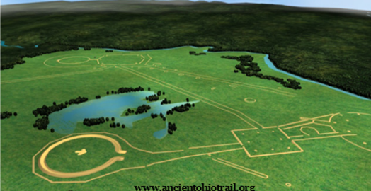 Reconstruction of the Newark Earthworks. Image Courtesy of the Ancient Ohio Trail.