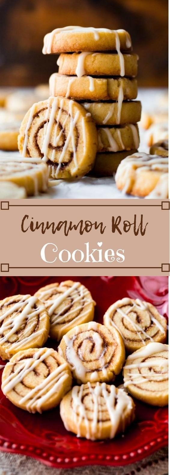 Cinnamon Roll Cookies #dessert #cookies