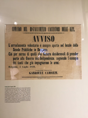 Gabriele Camozzi is the requestor this call to arms in the museum of Museo Storico – Ottocento
