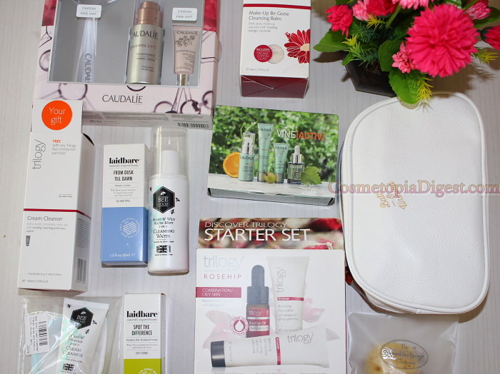 Here's my Spring beauty haul, and GWP goody bag, from Bath & Unwind.